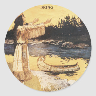 Golden Arrow Song Classic Round Sticker
