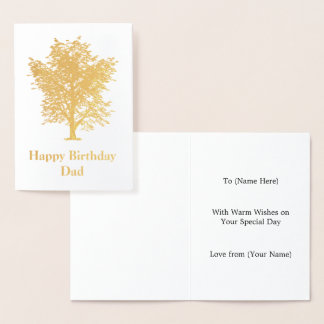 Golden Ash Tree Design - Elegant Male Foil Card