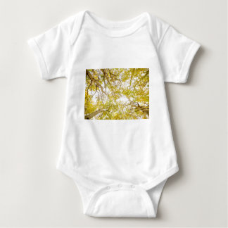 Golden Aspen Forest Canopy Baby Bodysuit