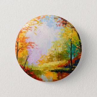 Golden autumn 2 inch round button