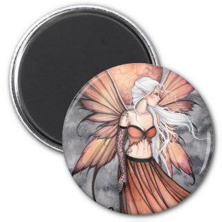 Golden Autumn Fairy 2 Inch Round Magnet