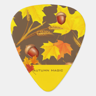 Golden Autumn Guitar Pick