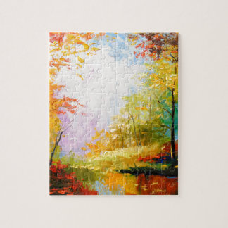 Golden autumn jigsaw puzzle