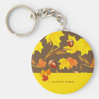 Golden Autumn Keychain