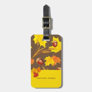 Golden Autumn Luggage Tag