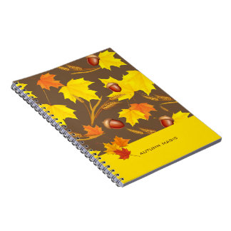 Golden Autumn Notebook