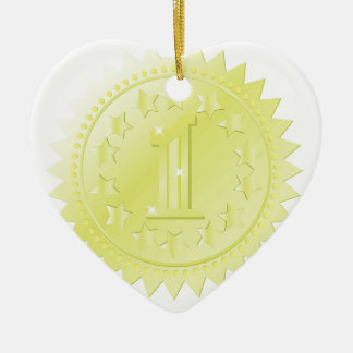 golden award ceramic ornament