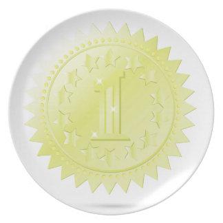 golden award plate
