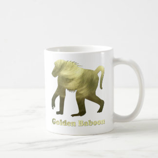golden baboon coffee mug