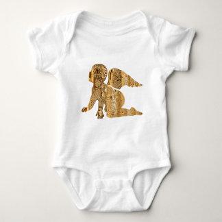 Golden Baby Angel Shiny Elegant Angelic Baby Bodysuit