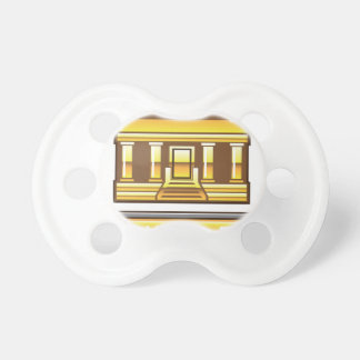 Golden bank Link Your Bank Button Glossy Baby Pacifier