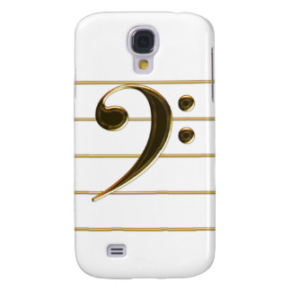 Golden Bass Clef Music Samsung Galaxy S4 Case