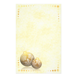 Golden Baubles Stationery
