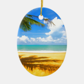 Golden Beach Ceramic Ornament