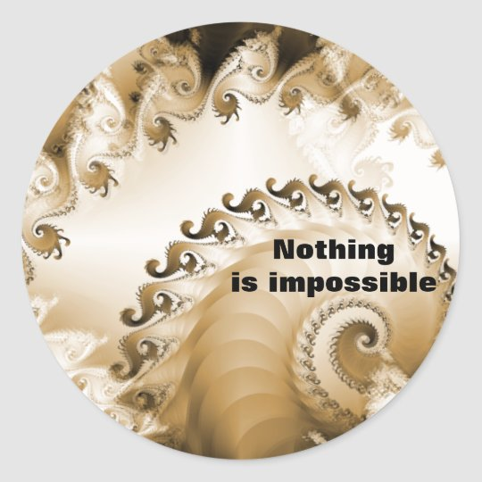 Golden Beach Shell Nothing Is Impossible Sticker