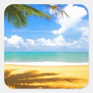 Golden Beach Square Sticker