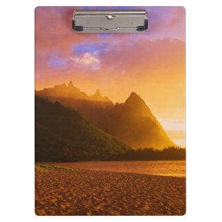 Golden beach sunset, Hawaii Clipboard