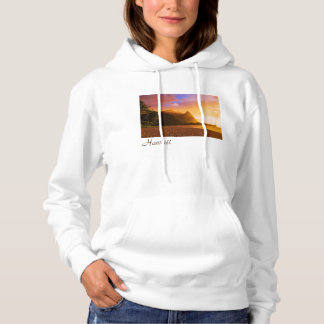 Golden beach sunset, Hawaii Hoodie