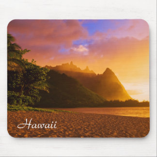 Golden beach sunset, Hawaii Mouse Pad