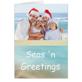 Golden Beaches Tropical Photo Christmas Card