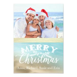 Golden Beaches Tropical Photo Christmas Card
