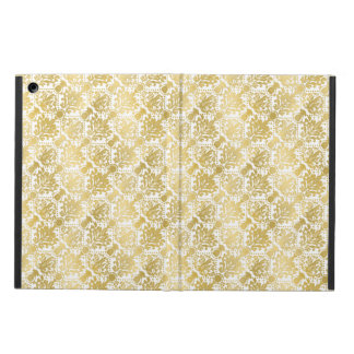 Golden beautiful baroque stylish elegant pattern iPad air covers