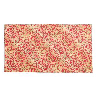Golden beautiful baroque stylish elegant pattern pillowcase