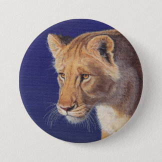 Golden Beauty Lioness button