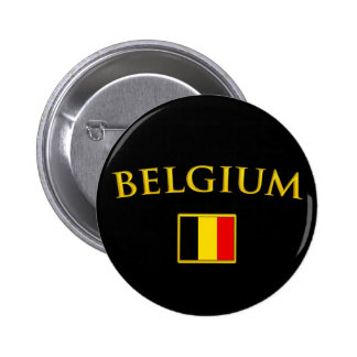 Golden Belgium 2 Inch Round Button