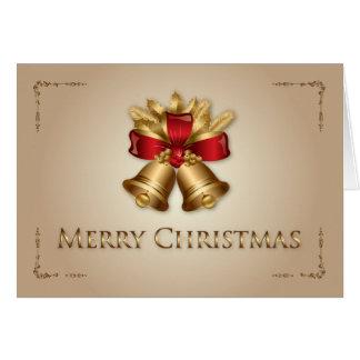 Golden Bells Christmas Card
