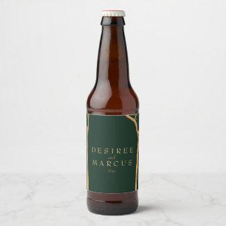 Golden Birch Trees Beer Bottle Label