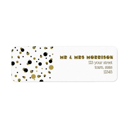 Golden Black Dots Modern Stylish Trendy Couple