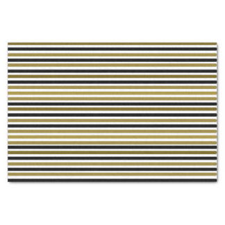 Golden Black Stripes Modern Stylish Trendy Chic Tissue Paper