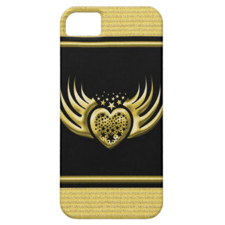 Golden Black Winged Heart Case For The iPhone 5