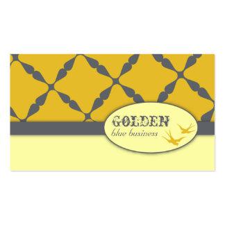 Golden Blue Business Cards