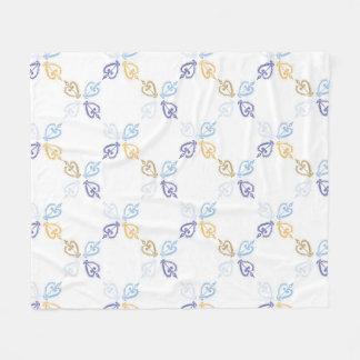 Golden blue harlequin blanket