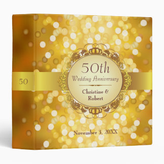 Golden Bokeh 50th Anniversary Binder