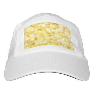 Golden Bokeh Glitter Headsweats Hat