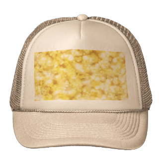 Golden Bokeh Glitter Trucker Hat