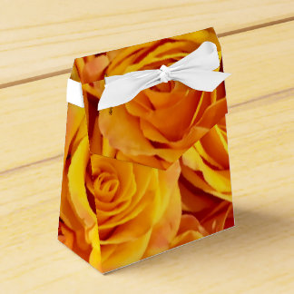 Golden Bold Roses Favor Box