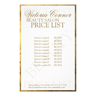 Golden Border Luxury Price List Flyer