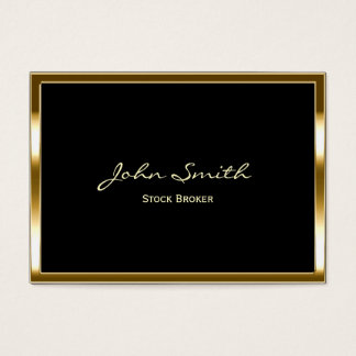 Golden Border Stock Broker Business Card