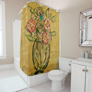 Golden Bouquet Shower curtain