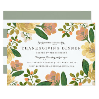 Golden Bouquet Thanksgiving Dinner Invite