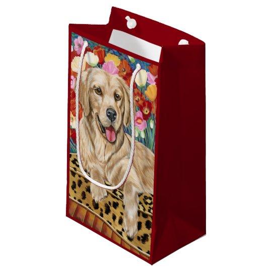 Golden Boy Retriever Small Gift Bag