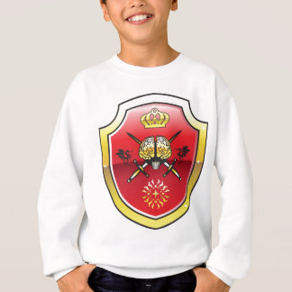 Golden brain. Shield with swords. Royal mind. Sweatshirt