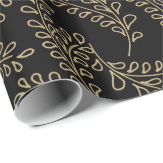 Golden Branches Collection Wrapping Paper