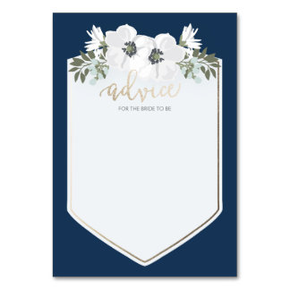 Golden Bride Advice Card Table Card