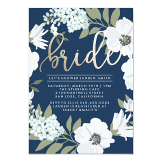 Golden Bride - Bridal Shower Invitation