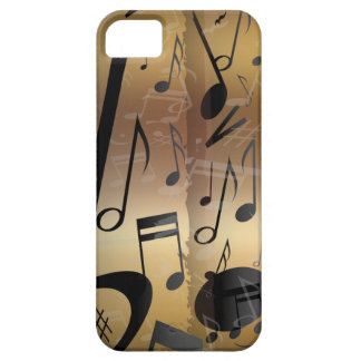 Golden Bronze and Black Music Notes iPhone 5 Cover